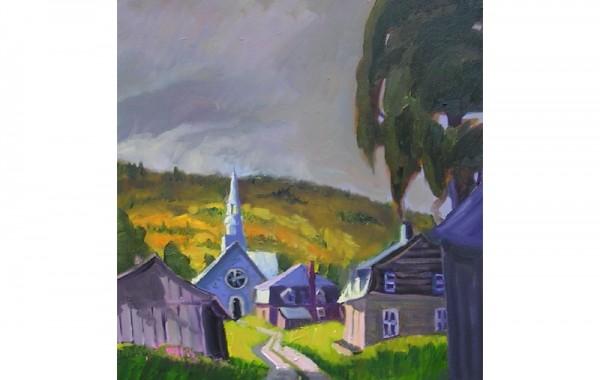 L'église de Les Éboulements
