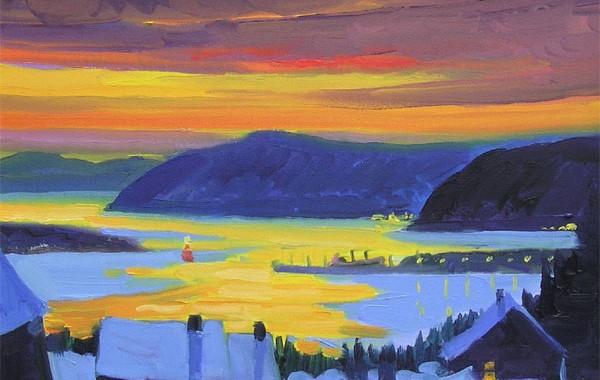 Le soir sur le fleuve St-Laurent